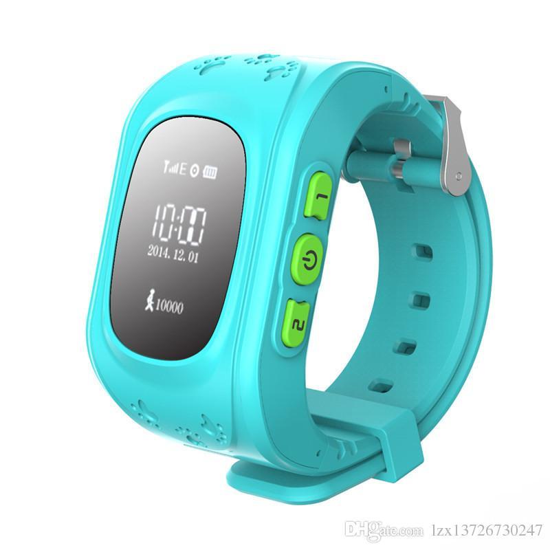 Q50 Çocuklar LBS Tracker Akıllı İzle Telefon SIM Quad Band GSM Güvenli SOS Arama PK Q80 Q90 Smartwatch Android IOS Için