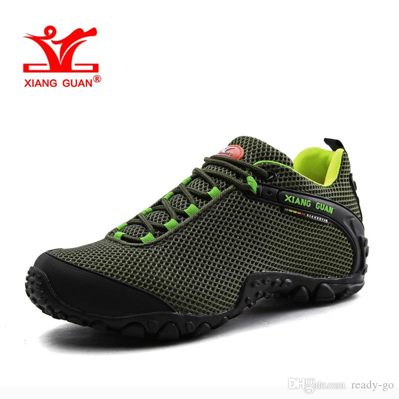 2018 Man Mountain Hiking Shoes For Mens Lycra Mesh Breathable Athletic  Trekking Boots Zapatillas Sports Climbing Shoe Outdoor Walking Sneakers 44  From Ready ...