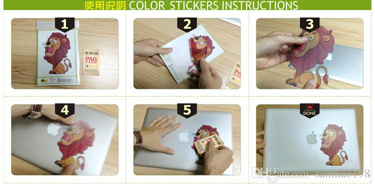 FULCLOUD-3 Sticker vinyle originalité originale et chaude, couleur, autocollant local pour Apple MacBook air / pro / barre de touch 11