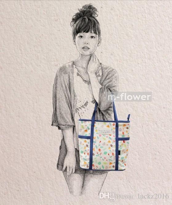 9150e83c9bba Spring Days Printed Japan South Korea Style Canvas Women's Tote Single Shoulder  Bag Female Daily Casual Shopping Beach Bag