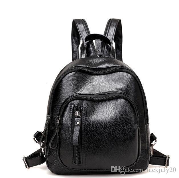 c42b03661af9 2017 Summer New PU Shoulder Bag Ladies Korean Version Of The Trendy Fashion  Simple Mini Small Backpack Tide Yujyj Laptop Backpacks Travel Backpacks From  ...