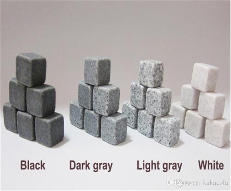 Piedras de whisky naturales / set Enfriador de piedras de whisky Cubo de hielo de piedra de jabón de roca de whisky con bolsa de almacenamiento de terciopelo