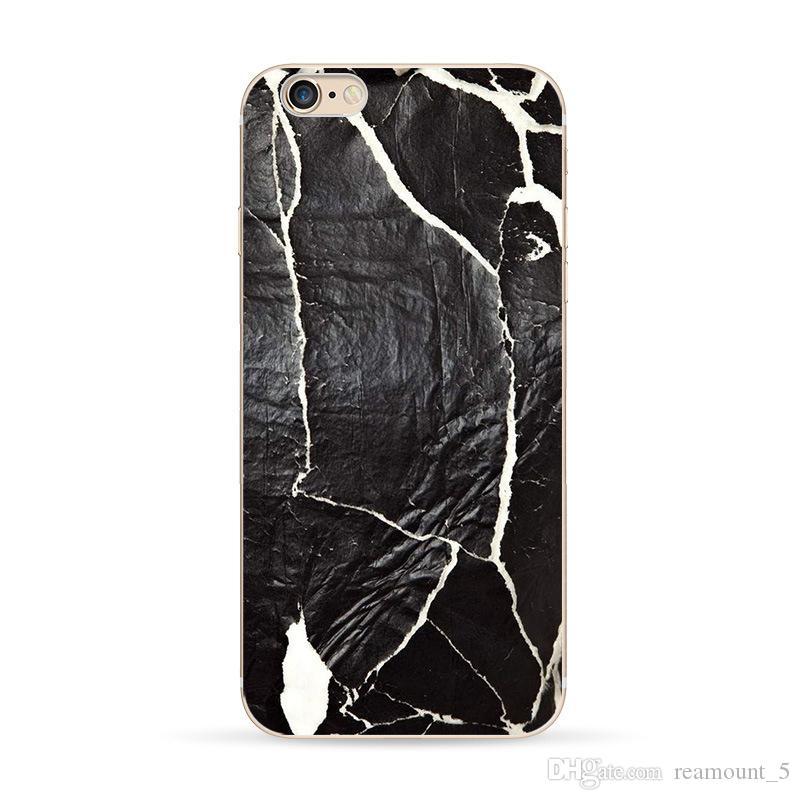Marmor-Textur-Skins-Telefon-Kasten für iPhone 6 6s 6 plus schützender weicher Silikon-Telefon-Abdeckungs-Fall