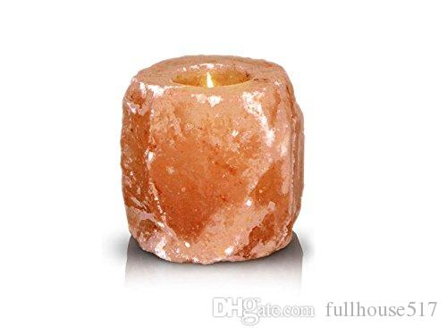 Hot Himalayan Natural Crystal Salt Rock 1 Hole Tealight Candle Holder Hand Carved Air Purifier free fast shipping