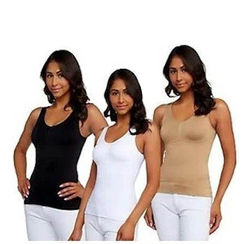 4a1050312e854 Wholesale- Sale Genie Bra Cami Tank Top Women Body Shaper Removable ...