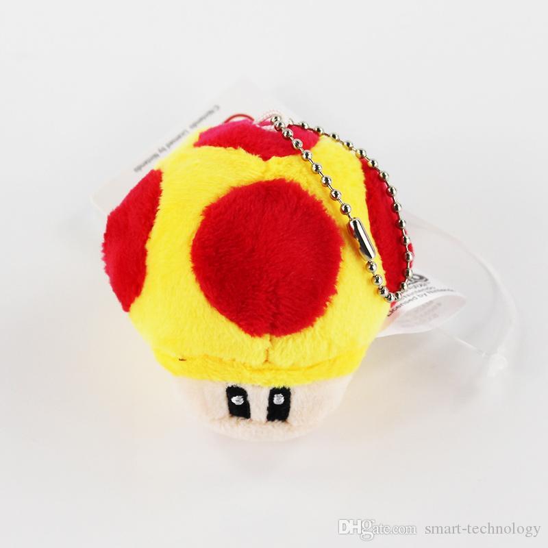 / Super Mario Toad Cogumelo enchido macio Dolls Plush Pendant Keychain Toy