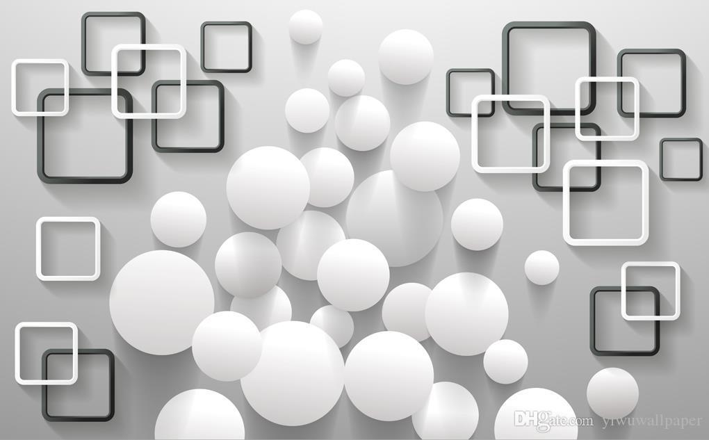 Encargo cualquier tamaño pared de fondo moderno cuadro de pelota minimalista mural de papel pintado 3D papeles de pared 3D para TV telón de fondo