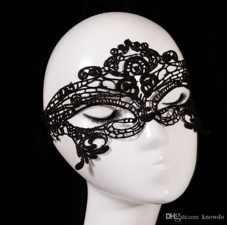 New Girls Women Sexy Ball Lace Mask Catwoman Masquerade Dancing Party Eye Mask Cat Halloween Fancy Dress Costume Party Decoration