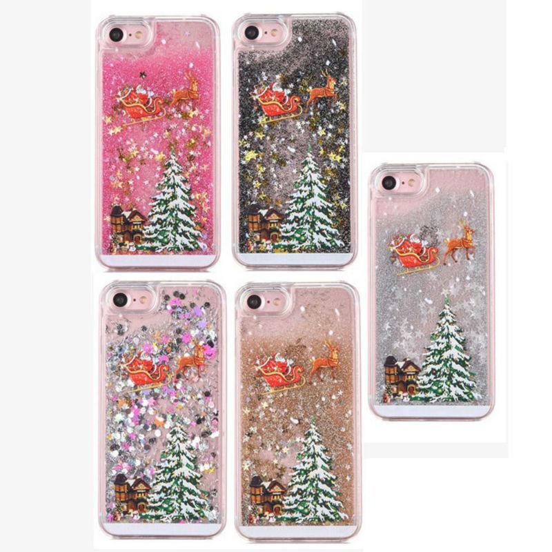 merry christmas dynamic liquid quicksand transparent hard pc phone back cover cases for iphone 7 for iphone 6 6s 7 plus capa liquid quicksand case iphone 7