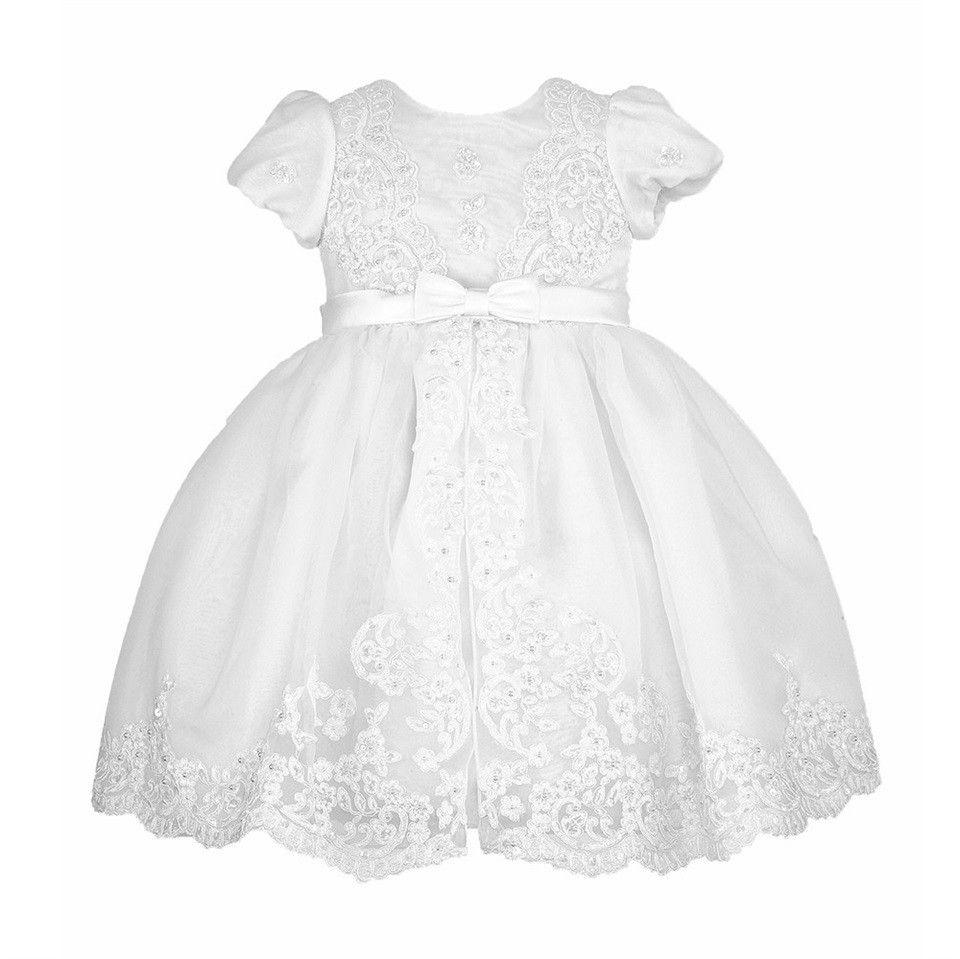 Baby Taufe Kleid Puff Kurzen Ärmeln A-Line Knöchel Länge Hohe Qualität Vestidos Infantil Baby Mädchen Kleidung Taufe Kleider