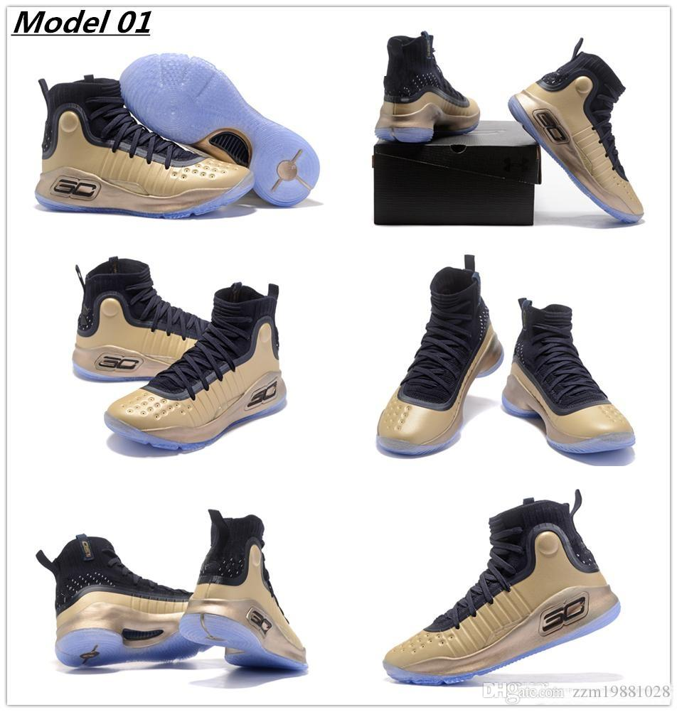 df2ba1c997bb ... 2017 new curry 4 basketball shoes for stephen curry 4s black gold  championship top quality youth