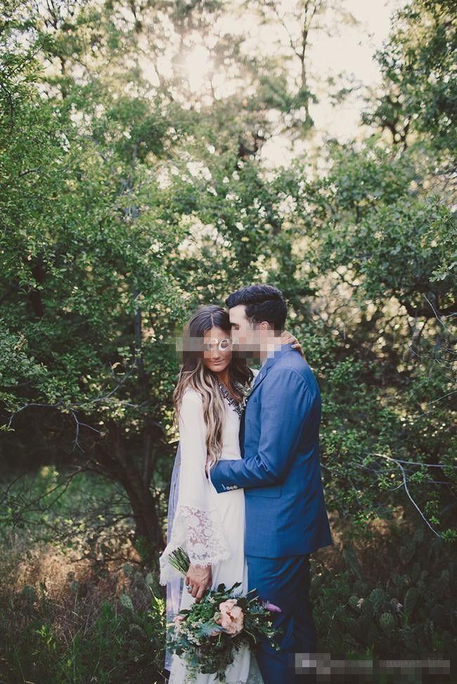 Abiti da sposa a maniche lunghe vintage con pizzo pavimento in chiffon guaina 2016 economici abiti da sposa hippie country plus size backless