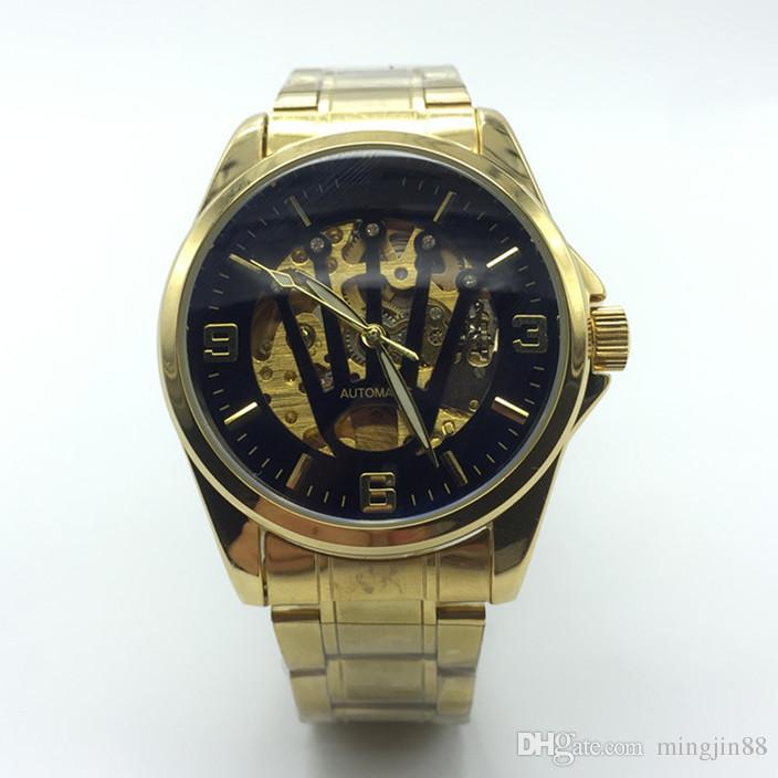 723f34d188f9 Compre Nueva R Relojes Hombres Marca De Lujo Reloj Clásico Hombres  Automáticos Relojes De Moda De Alta Calidad Para Hombre Negro Oro  Resistente Al Agua ...