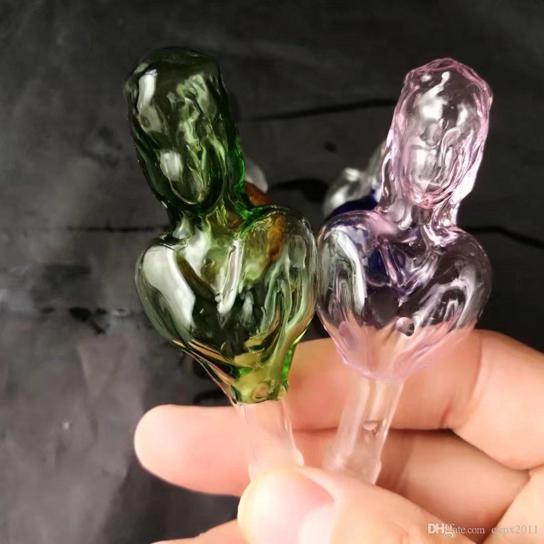 Cocina de fútbol de cristal de la belleza del color, pipas de agua de los tubos de agua hooakahs dos funciones para los bongs de cristal de las plataformas petroleras