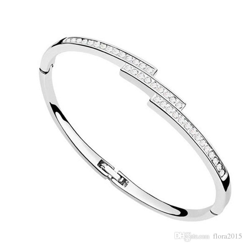 Nickel Free Famous Brands Design Jewelry For Women Swarovski Elements  Crystal Bracelet Manchette Femme 2017 Best Gift For Valentine S Day Cuff  Bangle Red ... 758d86c1c2