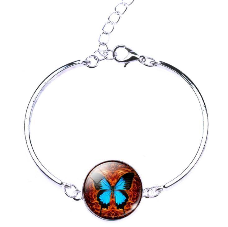 A estrenar Nueva pulsera actriz mano vacía anillo simple mariposa pareja joyería FB552 orden de la mezcla 20 pedazos mucho Enlace, cadena