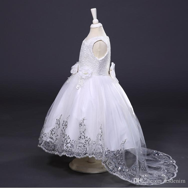 2018 Newest Girls Pageant Gowns Dresses Fashion Applique Embroidery ...