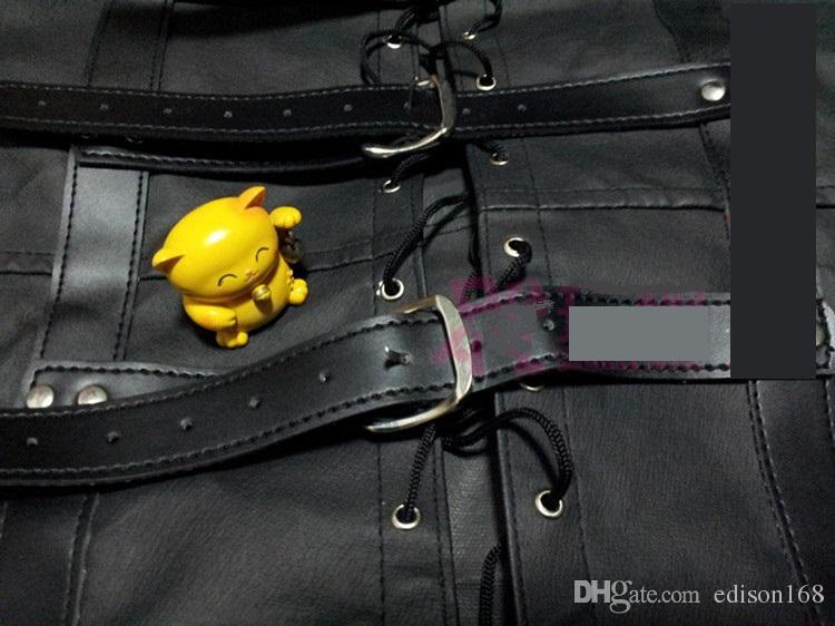 Женский Sofe Pu кожаный регулируемый Bound Бандаж смирительной Пальто для женщин Эротика Body Harness Фетиш Косплей взрослых БДСМ секс игр игрушки
