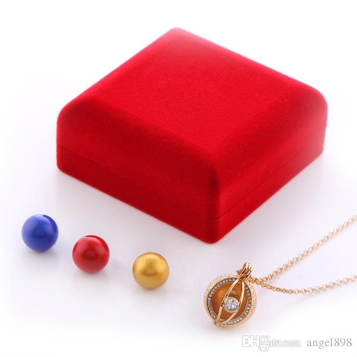 Alta qualità Red Velvet Harmony angelo palla Display Holder Box Tie Clip Boxes Jewery Storage Organizer Trasporto di goccia gratuito