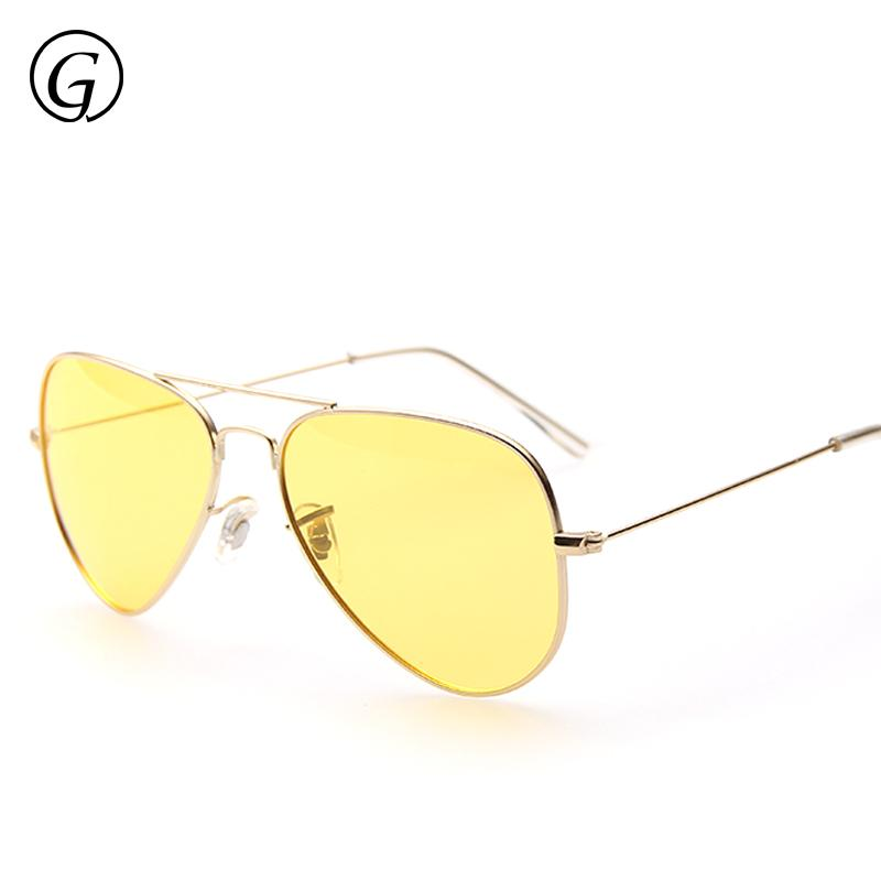 71a590028d27c7 Wholesale 2016 High Quality Luxury Brand Designer Pilot Night Vision  Driving Glasses Polarized Sun Glass Yellow Lens 62mm Gold Frame Womens  Sunglasses ...