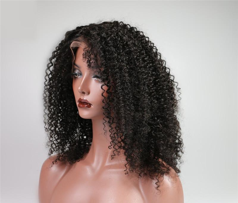 Grade 8a kinky curly Full Lace Wigs with baby hair 100% unprocessed Brazilian hair lace front wigs for african women
