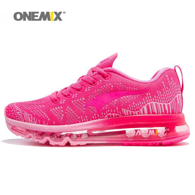size 40 41d74 b8efd ONEMIX 2018 Mujer Zapatillas De Running Para Mujer Cojín De Aire Shox  Athletic Entrenadores Zapatillas De Deporte Para Mujer Malla Transpirable  Zapatillas ...