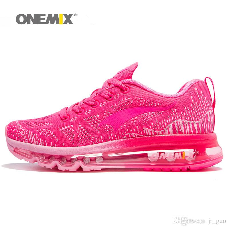 62df6b34bfd739 2019 ONEMIX 2018 Woman Running Shoes For Women Air Cushion Shox Athletic  Trainers Womens Sports Shoe Mesh Breathable Outdoor Walking Sneakers 90  From Jr guo ...
