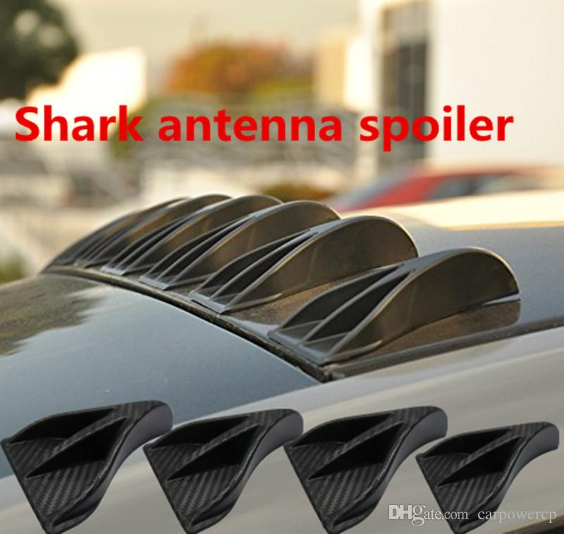 Roof Fins Amp Black Rear Roof Shark Fin Style Spoiler Wing