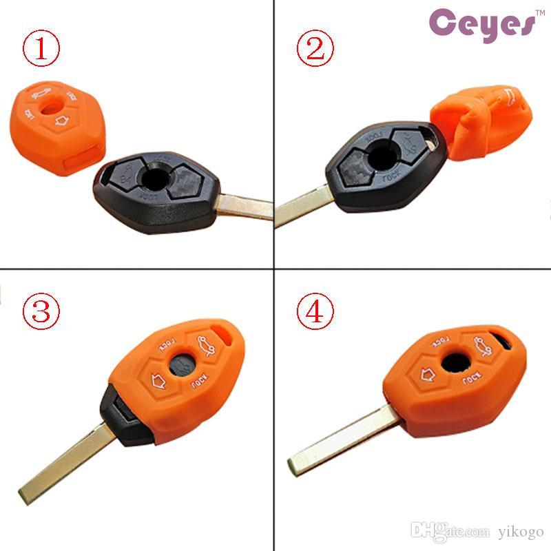 자동 차 키 커버 케이스 bmw m m3 m5 m6 m8 케이스 2 botton 키 보호 키 셸 커버 케이스 자동차 액세서리