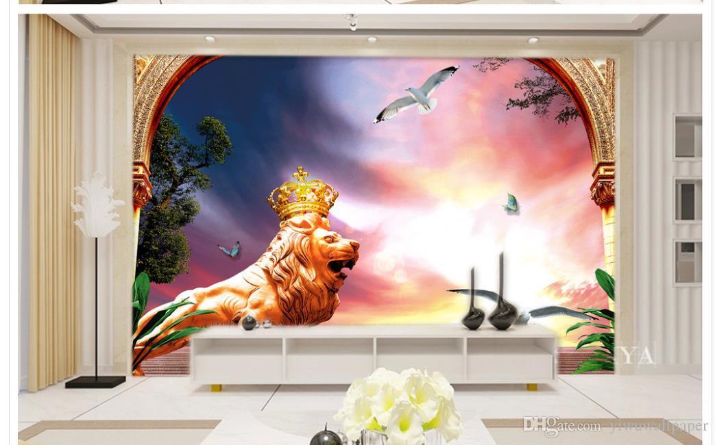 Carta da parati personalizzata 3d stile europeo piccioni piccioni sfondo muro murale carta da parati 3d wallpaper classico pareti