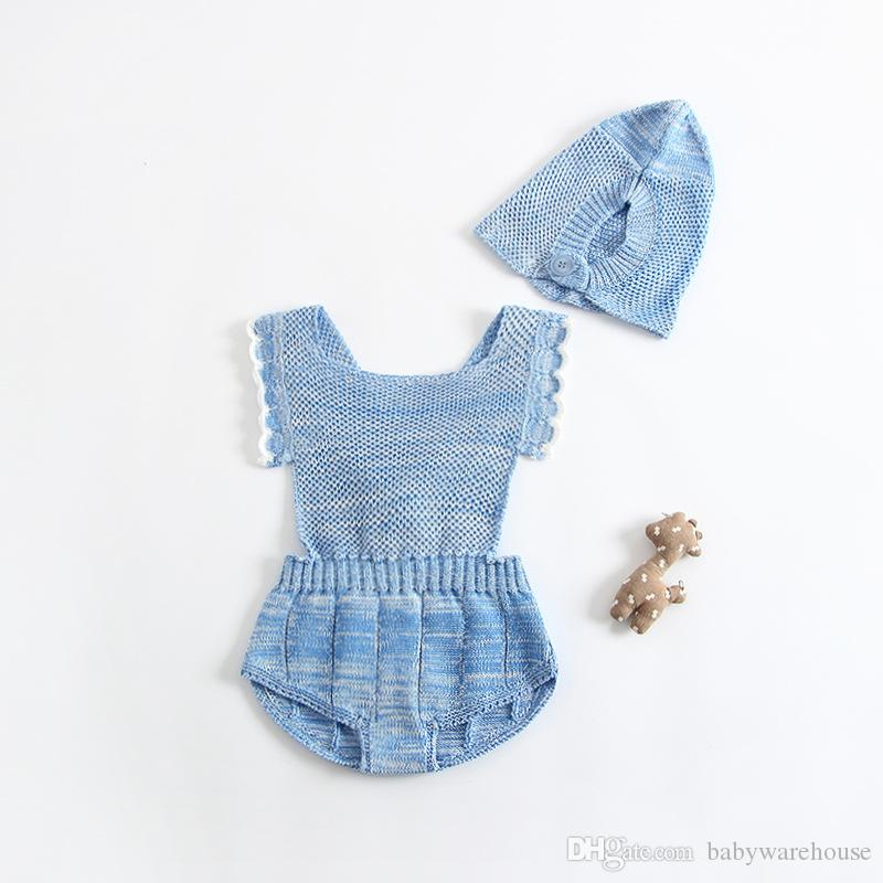 Baby Girls Rompers Princess Sweet Knitted Infant Romper Kids Jumpsuit Baby's One Piece Suits Baby Clothes Climb Cute Children's Clothing