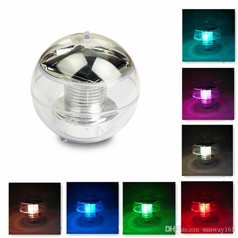 Professional Sale 2 In 1 Underwater Pond Light Solar Powered Underground Lamp 6leds Swimming Pool Floating Lamps Waterproof Outdoor Garden Light Lights & Lighting