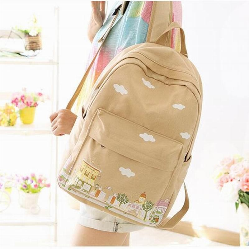 5966eaa8df3a 2018 Canvas Backpack Women Bagpack Teenagers Backpacks For Teenage Teen  Girls Youth Feminine Cute Backpack Girl Mochila Travel Bags Online Kids  Suitcases ...