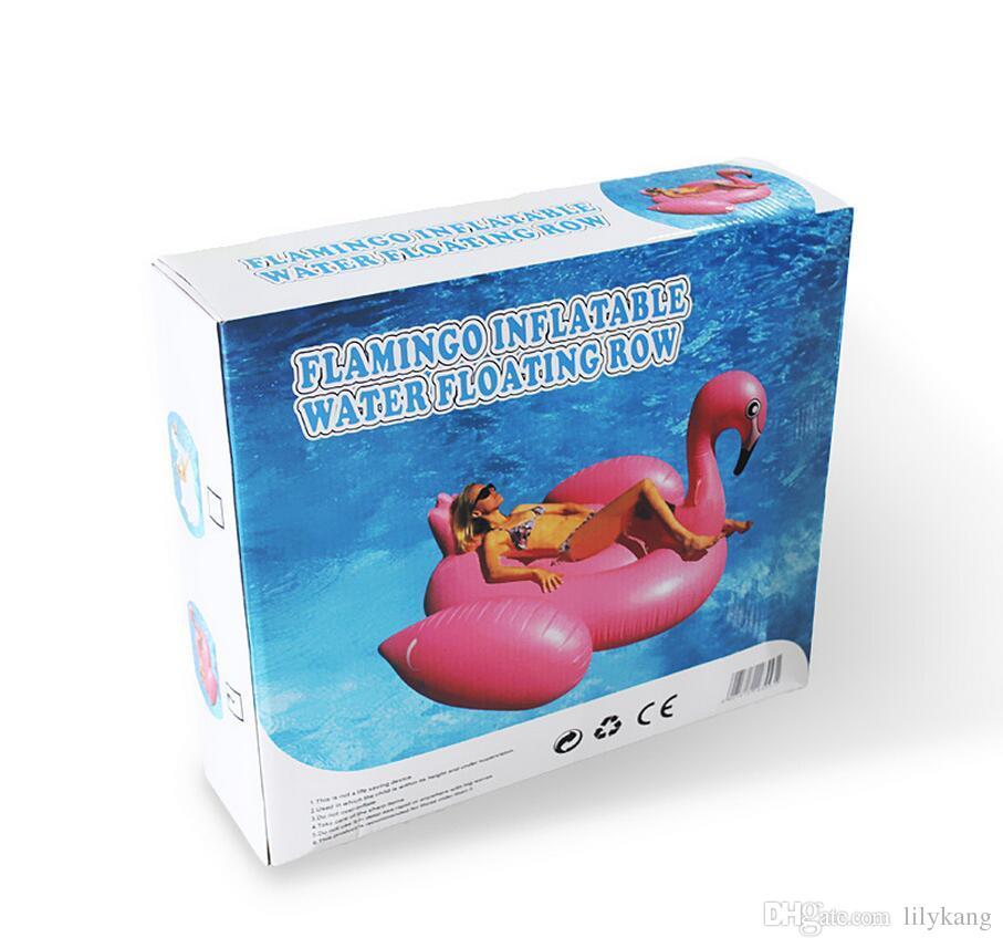 195 * 200 * 120CM تجمع العملاق بجعة نفخ زورق عائم السباحة لعبة تجمع نفخ الحراس السباحة حلقات البلاستيكية بجعة نفخ