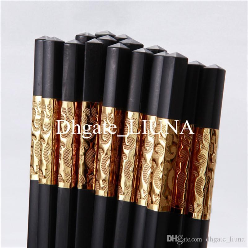 Оптовая высокого качества бытовой китайский стиль Черный квадрат палочки для еды красивый ресторан посуда 27 см
