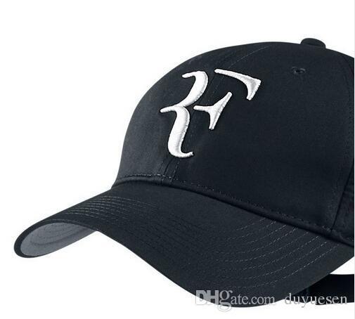 Yüksek kalite erkekler ve kadınlar genel Federer tenis guru şapka pamuk kap spor futbol basketbol beyzbol şapkası Güneş şapka