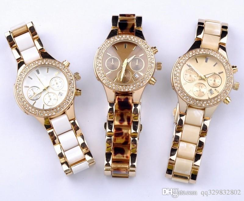 Top Luxury Dress Womens Watch White Diamond Bezel
