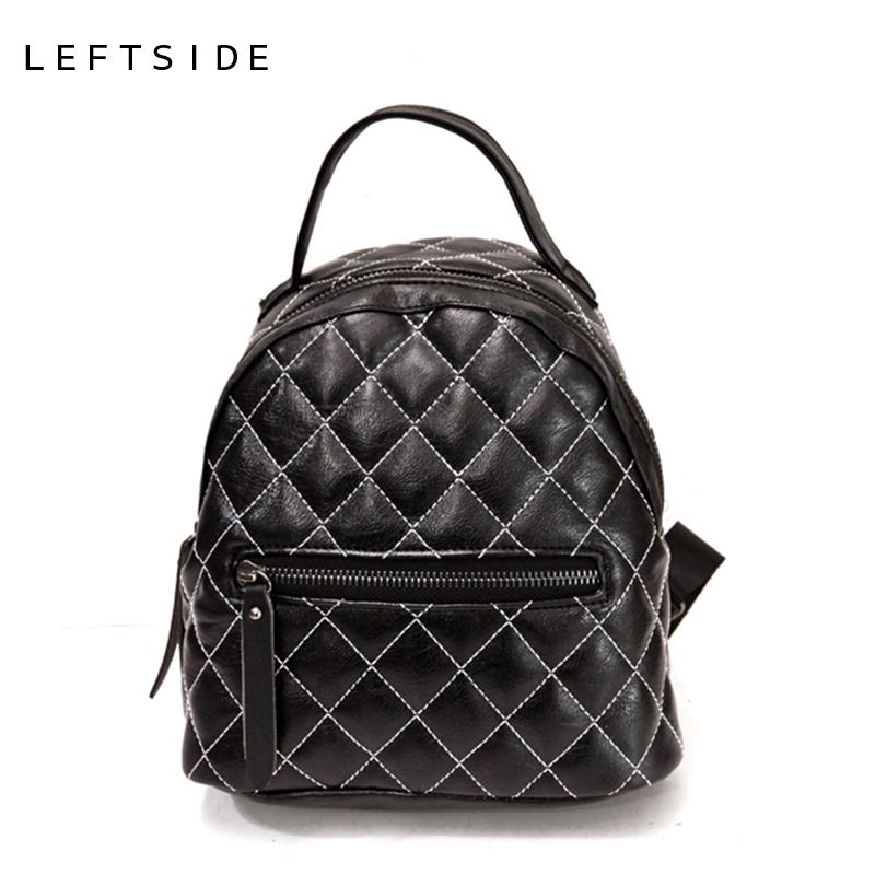 bd669294ad Women Quilted Designers Small Backpack Female PU Leather Back Pack For Teenage  Girls Fashion Bagpack Black Red Brown 171103 High Quality Leather Back  China ...