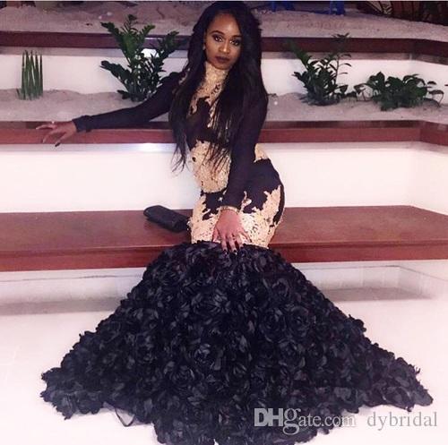 4d1c054072951 2018 sexy cheap black prom dresses evening dress long sleeve black girl  prom dress