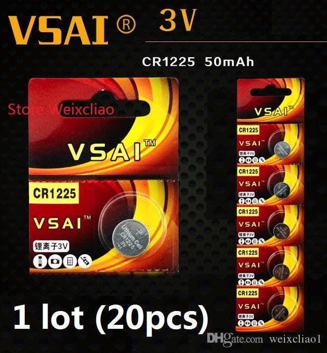 1 CR1225 3V lithium li ion button cell battery CR 1225 3 Volt li-ion coin batteries VSAI