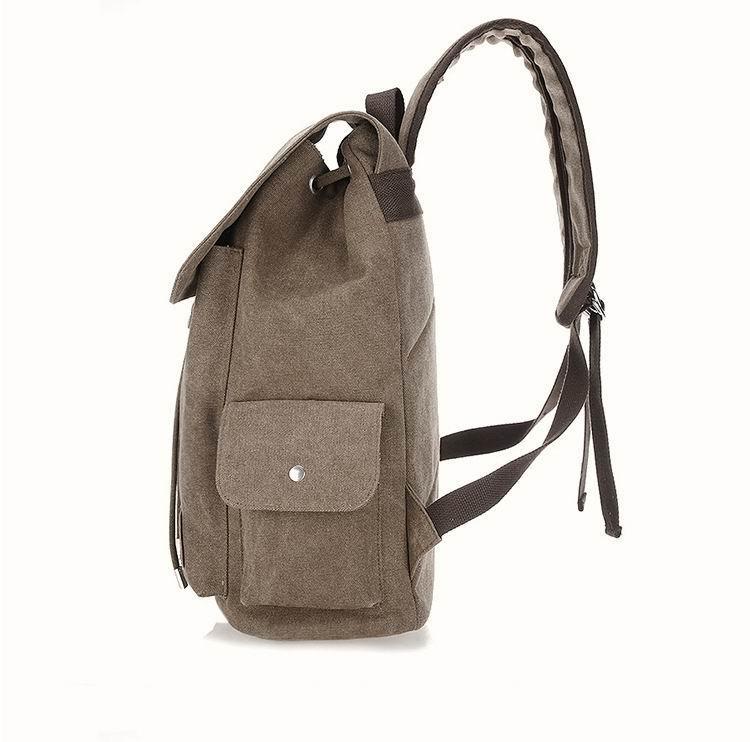 남성 야외 캔버스 남성 배낭 빈티지 Mochila 십대 학생 학교 가방 복고풍 배낭 노트북 여행 더블 어깨 가방