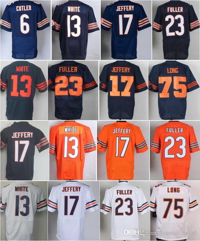 ... 2017 Best 13 Kevin White 6 Jay Cutler Jersey Color Rush Blue ... 636be06fb