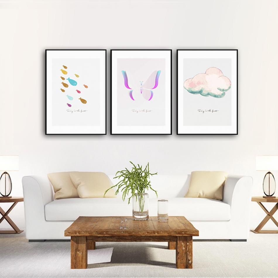 Großhandel Aquarell Bunte Malerei Leinwand Poster Malerei Drucke Hotel Bar  Garage Wohnzimmer Wand Haus Kunst Dekor Poster Von Makeme, $3.59 Auf  De.Dhgate.