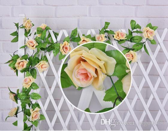 Simulazione ornamenti vegetali rose pareti rattan decorazione di nozze fiori all'ingrosso vite alte - fiori di simulazione end