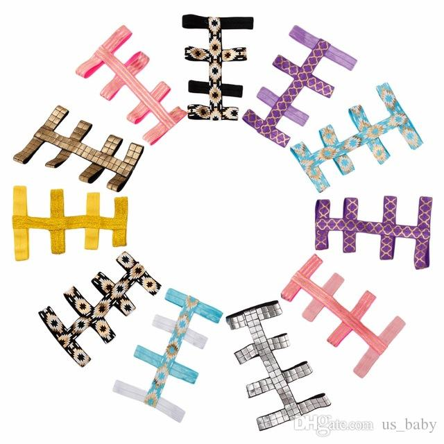 Baby Summer Geometric Sandals Elastic Stretch Infant Girl Barefoot Gladiator Sandals Decoration feet flower Photo Prop Foot Accessories