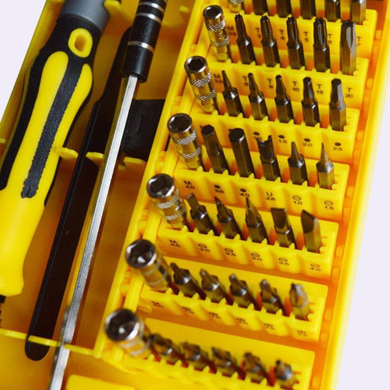 الدقة 45 في 1 الكترون توركس البسيطة المغناطيسي مفك مجموعة أداة الأجهزة اليدوية اليد إصلاح كيت افتتاح آيفون 5 6 7 6S زائد