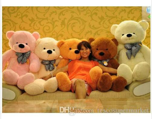 199892d00a311 2019 2016 Hot 6.3 FEET TEDDY BEAR STUFFED LIGHT BROWN GIANT JUMBO 72 Size 160cm  Birthday Gif7 From Tescosupermarket