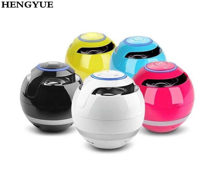 HENGYUE Portable Mini Bluetooth Speaker Ball Wireless Column Handfree TF FM Radio With Mic MP3 Globe Audio Music For Phone PC