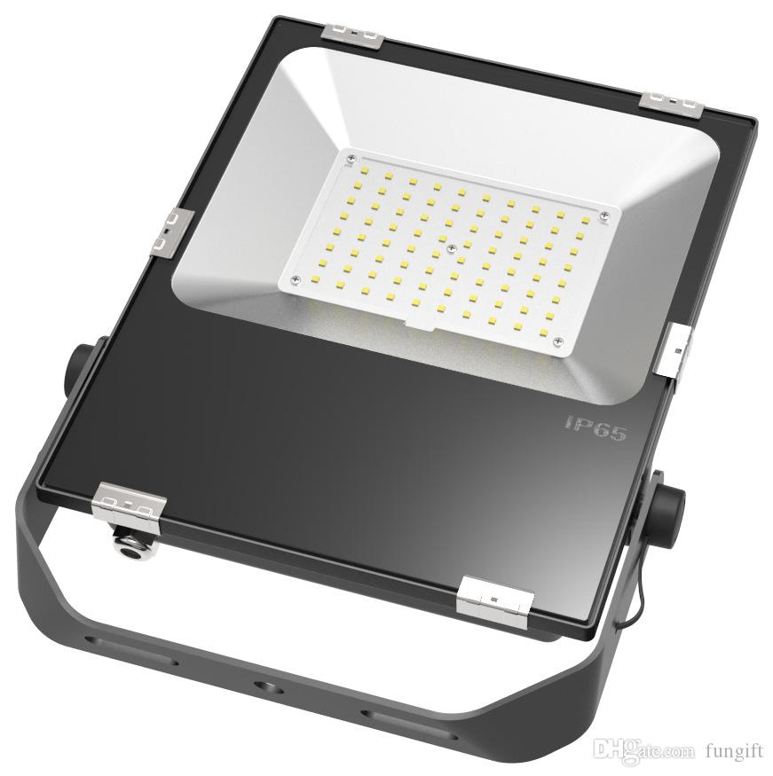Ультра-тонкий литой свет 50 Вт 80 Вт 100 Вт Открытый светодиодные прожекторы Водонепроницаемый IP65 Светодиодные прожекторы Настенный светильник переменного тока 85-265 В