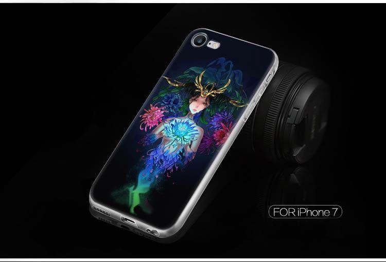 Iphone 7 7Plus için Iphone 7 7Plus Constellation Kılıf Yumuşak Cep Telefonu Kılıf Yüksek Kalite TPU Yaratıcı Sanatlar Herşey Dahil Vakaları için